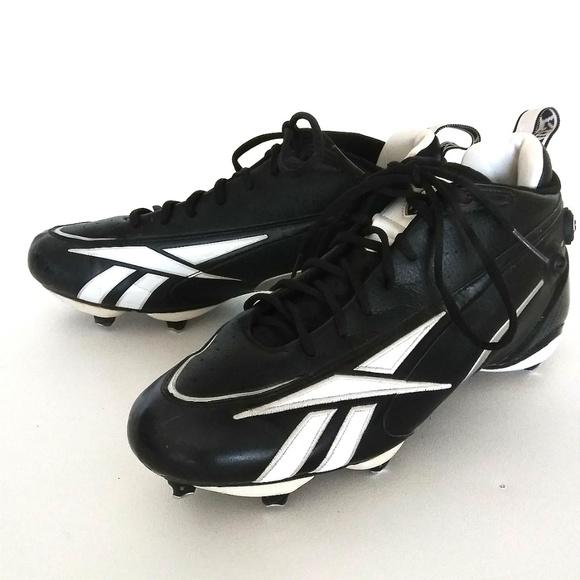 ccd3aa020b25 Men s Reebok The Pump NFL Black Football Cleats. M 5ac4e71b8af1c5cc06ff64ba